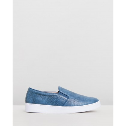 Midi Snake Slip-On Sneakers Blue Snake by Vionic