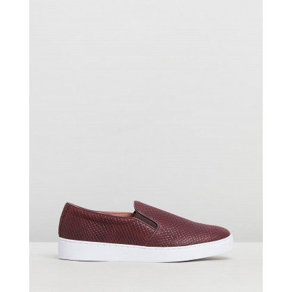 Midi Snake Slip-On Sneakers Merlot Snake by Vionic