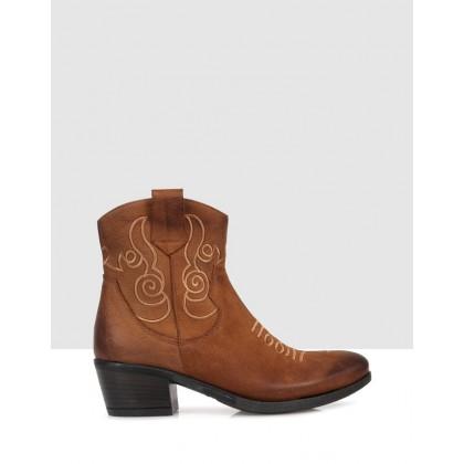 Midori Ankle Boots Brown by Sempre Di