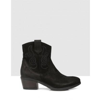 Midori Ankle Boots Black by Sempre Di
