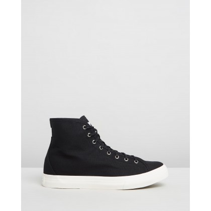 Mike High Canvas Sneakers Black by Saturdays Nyc