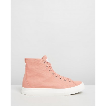 Mike High Canvas Sneakers Salmon by Saturdays Nyc