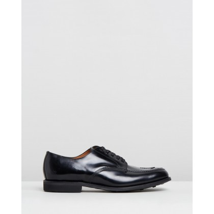 Military Broad Derby Black by Sanders