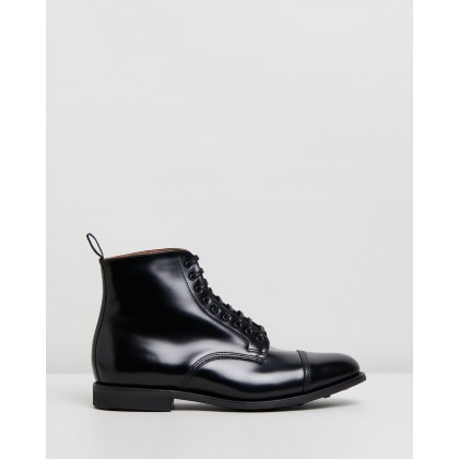 Military Derby Boots Black by Sanders