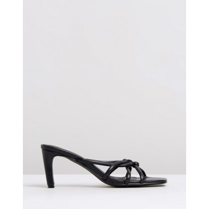 Mimi Leather Heels Black by Atmos&Here