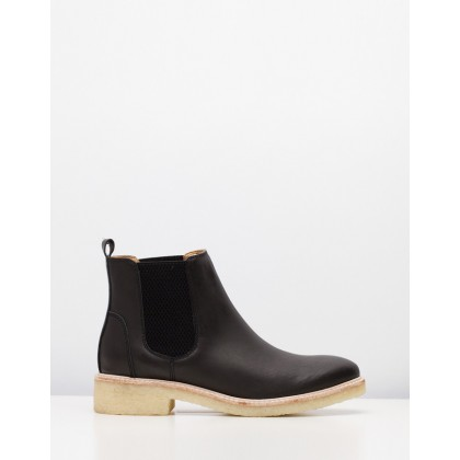 Mira Chelsea Boots Black Leather by Rollie