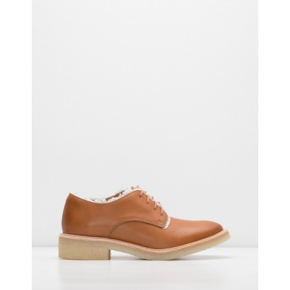 Mira Derby Shoes Frayed Cognac by Rollie