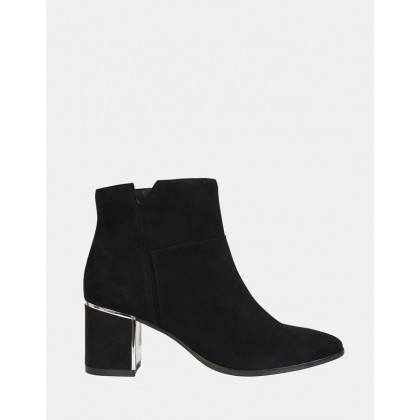 Mirage BLACK KID SUEDE by Jane Debster