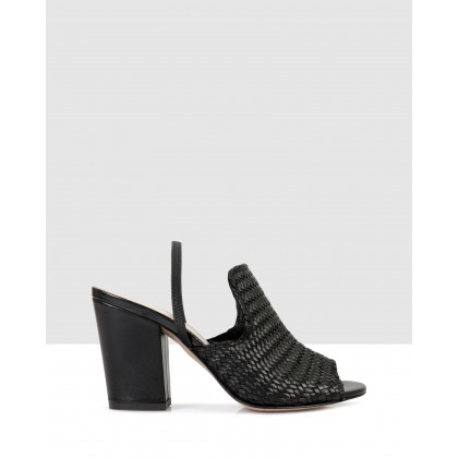 Miranda Heeled Sandals Nero by Sempre Di