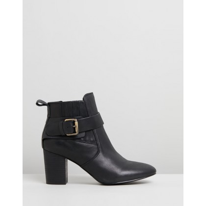 Misha Leather Boots Black by Walnut Melbourne