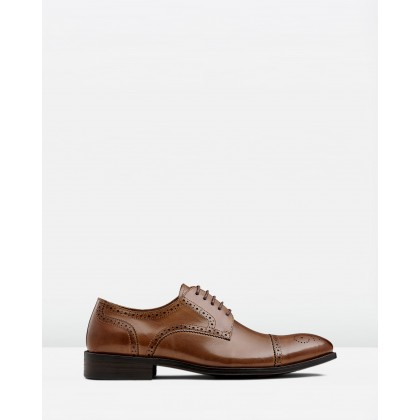Modena Lace Ups Tan by Aq By Aquila