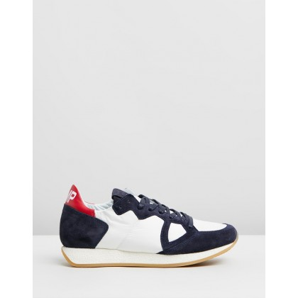 Monaco Sneakers White, Navy and Red by Philippe Model