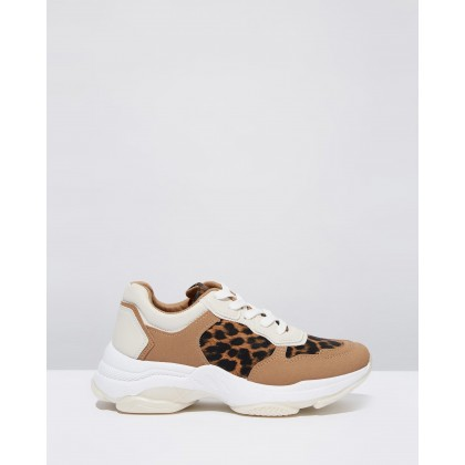 Monica Sleek Chunky Sneakers Leopard Multi by Rubi