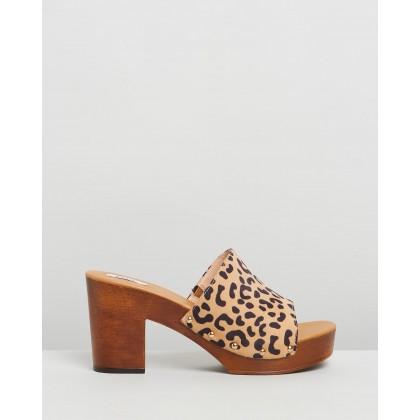 Montana Clogs Leopard Micro by Dazie