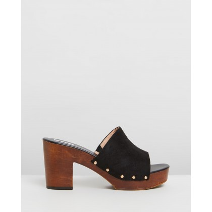 Montana Clogs Black Microsuede by Dazie