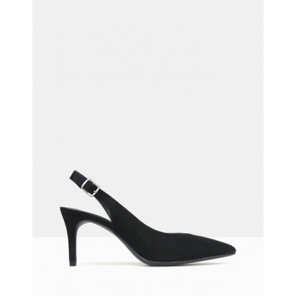 Motivate Sling-Back Court Shoes Black by Betts