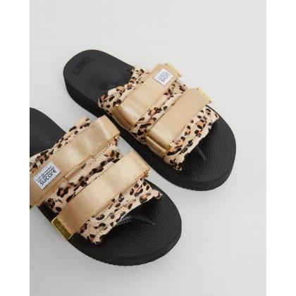 Moto Sandals Leopard by Suicoke