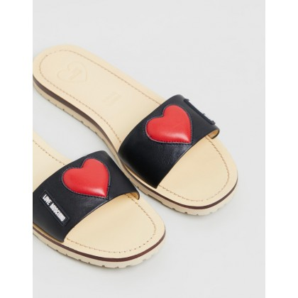 Mules Black by Love Moschino