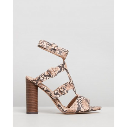 Multi-Buckle Block Stack Sandals Grey by Missguided