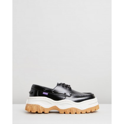 Mykonos Leather Loafers Black by Eytys