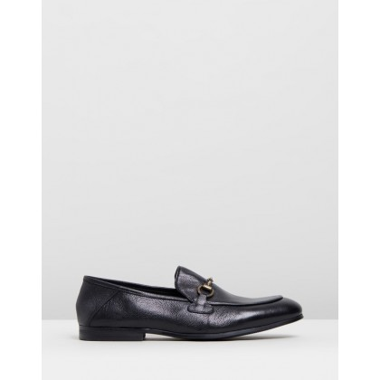 Napoli Collapse Back Loafers Black Soft Tumbled by Double Oak Mills