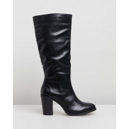 Natalie Knee High Boots Black Smooth by Rubi
