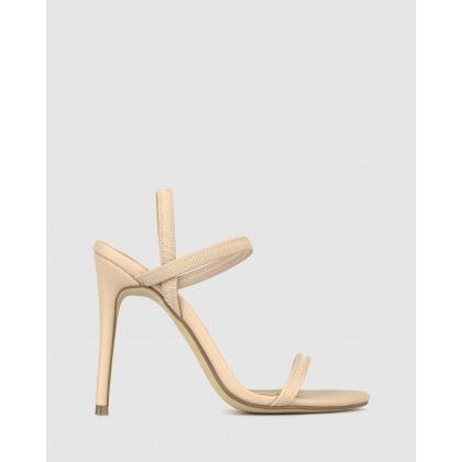 Neela Elastic Strappy Stiletto Sandals Nude by Zu