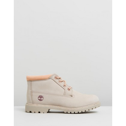 Nellie Chukka Double Waterproof Boots Light Taupe Nubuck by Timberland