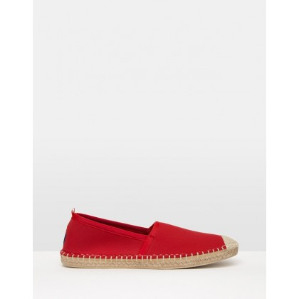 Neoprene Beachcomber Espadrilles Lighthouse Red by Sea Star Beachwear
