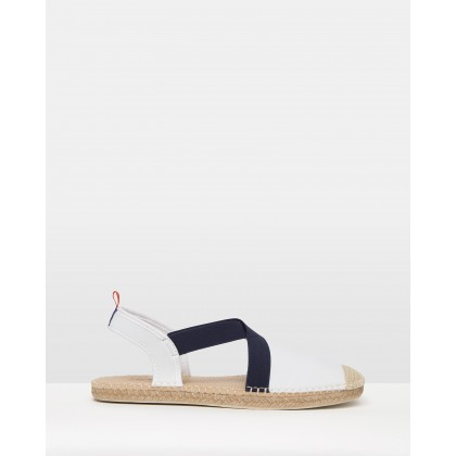 Neoprene Seafarer Slingbacks White & Navy by Sea Star Beachwear