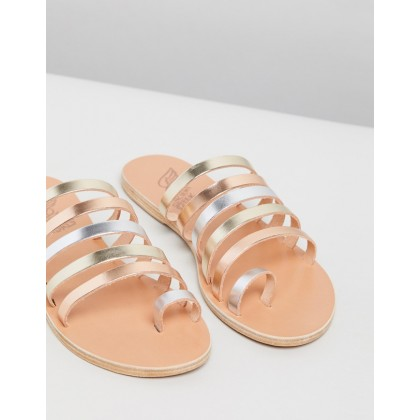 Niki Pink Metallic, Silver & Platinum by Ancient Greek Sandals
