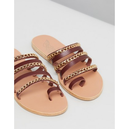 Niki Chains Chestnut & Gold by Ancient Greek Sandals