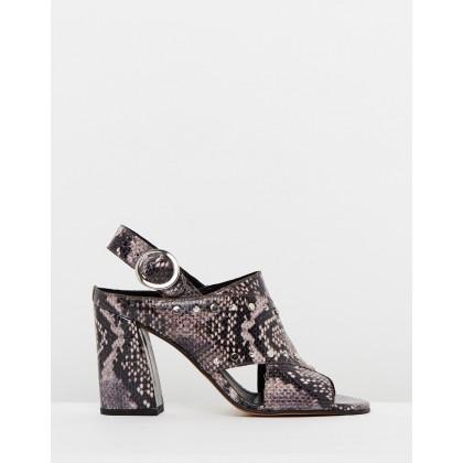 Nixie Stud Strap Heels Multi by Topshop