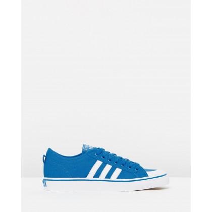 Nizza - Unisex Bright Blue & Off-White by Adidas Originals