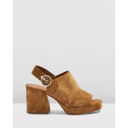 Nolan Platform Shoes Tan by Topshop