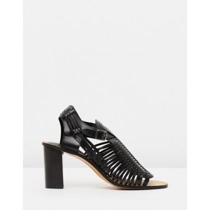Noreen Woven Sandals Black by Topshop