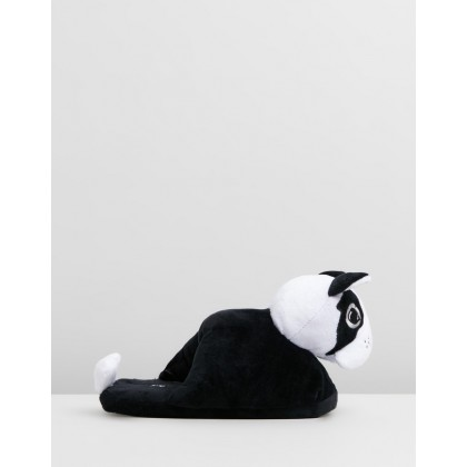 Novelty Slippers Black by Typo