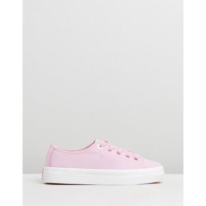 Nubuck Flatform Sneakers Pink Lavender by Tommy Hilfiger