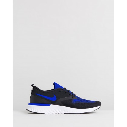 Odyssey React Flyknit 2 - Men's Black, Racer Blue & White by Nike