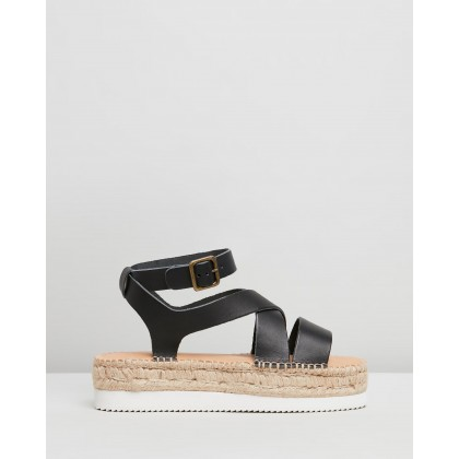 Olympia Espadrille Sandals Black by Soludos