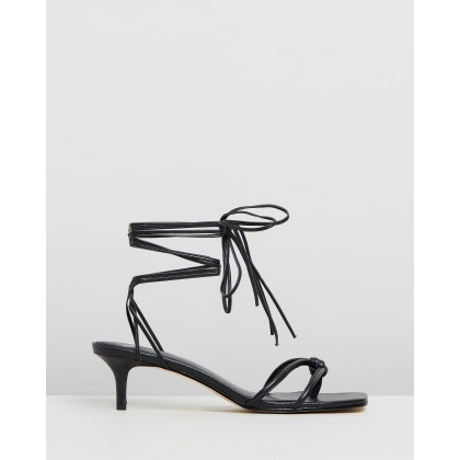 Olympia Kitten Heels Black by Mara & Mine