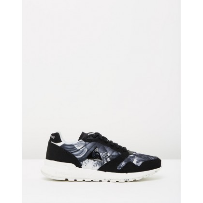 Omega X W x Kahori Maki - Women's Optical White, Black Suede & Textile by Le Coq Sportif