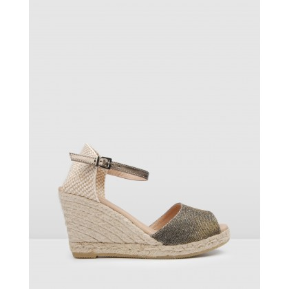 Ophra Espadrilles Metallic by Jo Mercer