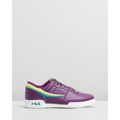 Original Fitness Sneakers - Men's Grape Juice, Sharp Green & Biscay Bay by Fila