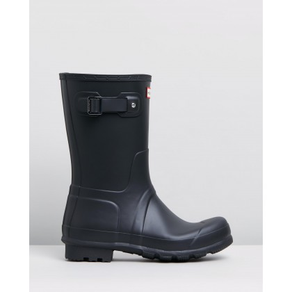 Original Short Boots - Mens Black by Hunter