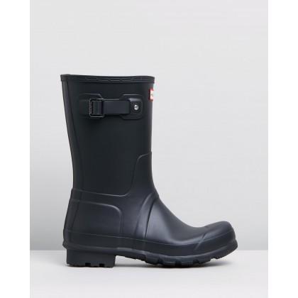 Original Short Boots - Mens Black by Hunter