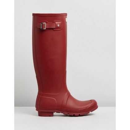 Original Tall Boots - Women's Military Red by Hunter