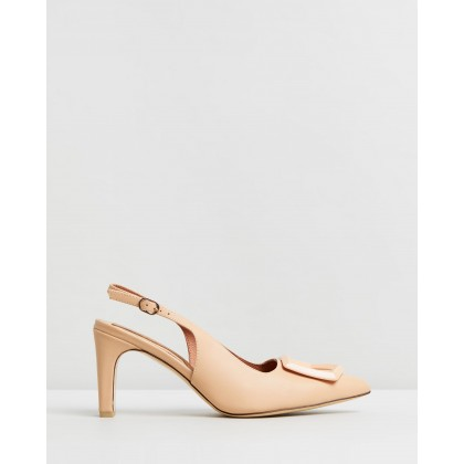 Ornament Leather Slingback Heels Amberlight by Jaggar The Label