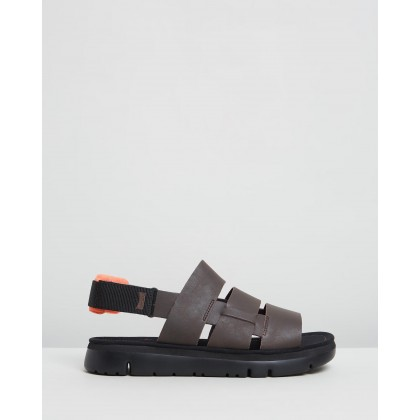 Oruga Sandals Dark Brown by Camper