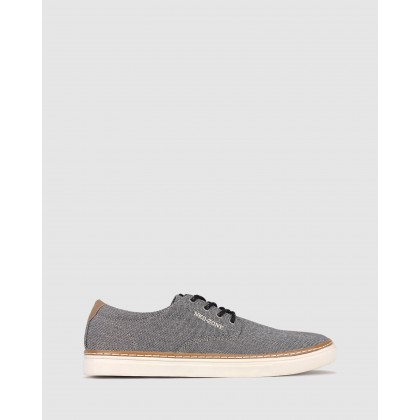 Otis Canvas Lifestyle Shoes Charcoal by Betts